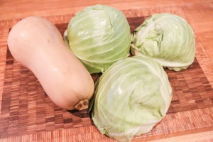 Cabbage and Squash used to make sauerkraut