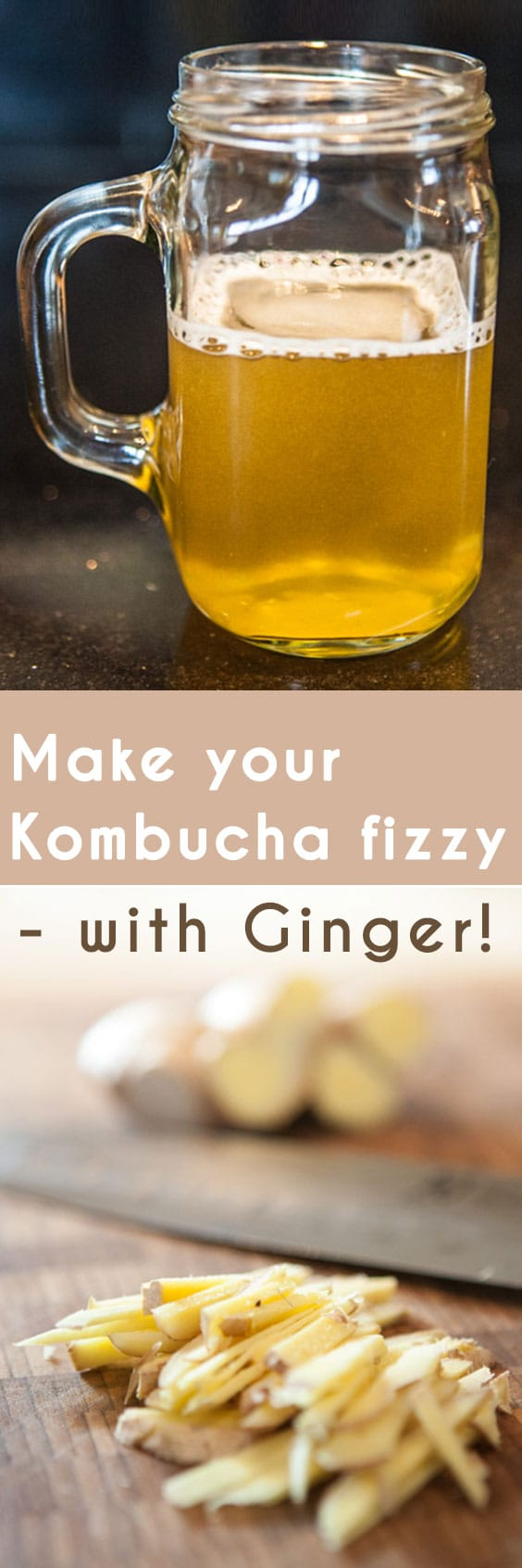 A surefire recipe for adding fizz to your kombucha, using the natural carbonating effects of ginger.