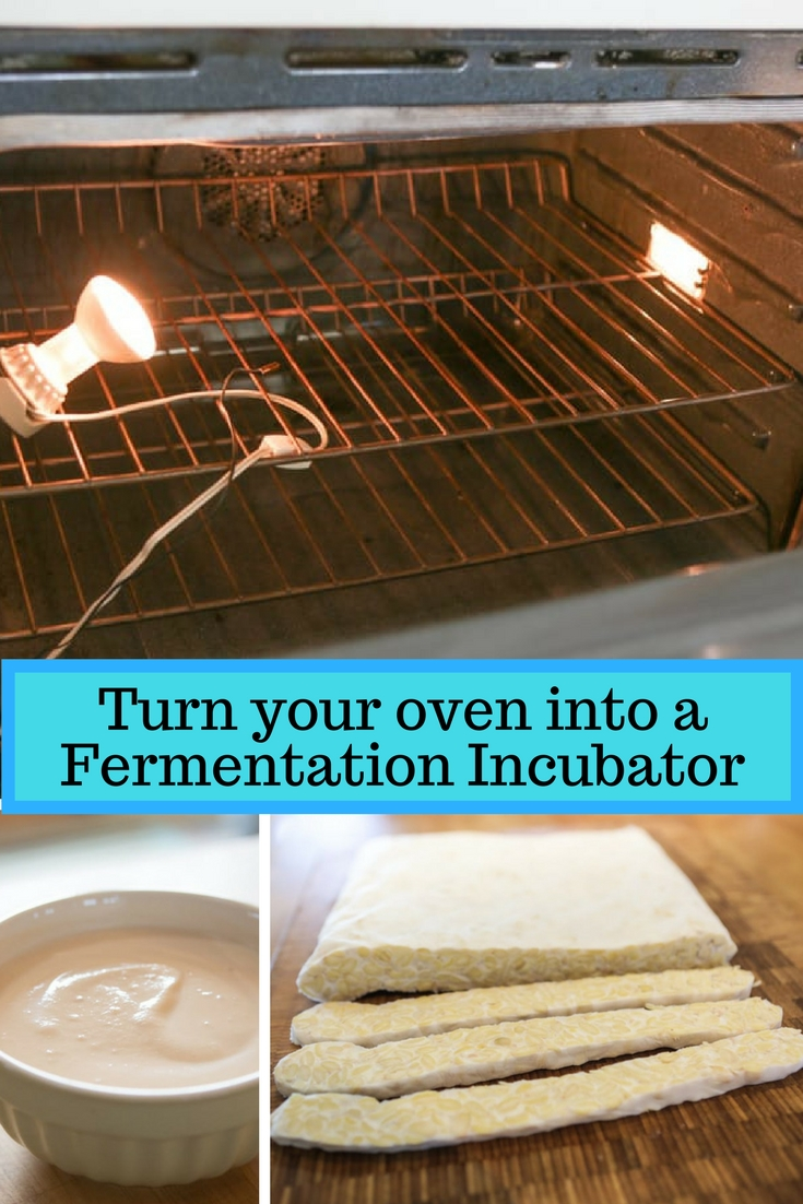 Here is a guide to making your own fermentation incubator. Making yogurts, tempeh and other temperature sensitive ferments can be kept warm in many ways.